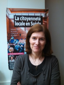 Avril 2016 : Conférence sur la citoyenneté locale en Suède par Marie-Pierre Richard