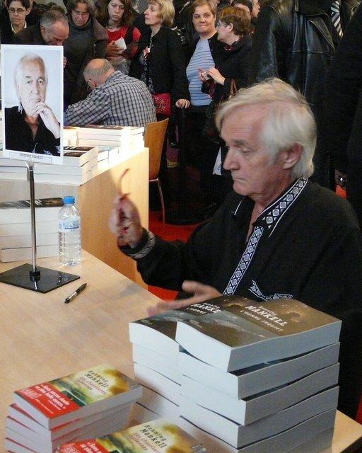 Sortie au Salon des livres 2011 à Paris : conférence avec Henning Mankell