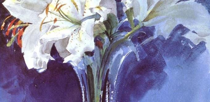 2-Vita-Liljor-foremost-Sweden-painter-Anders-Zorn-watercolor